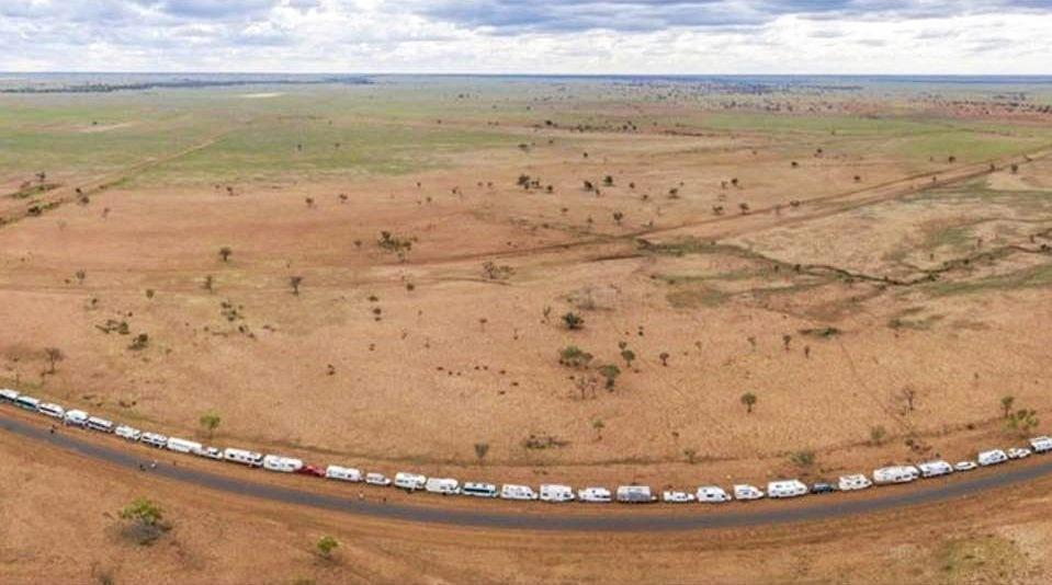 IT'S A RECORD: Hundreds of camping vehicles made their way out to Central West Queensland for an attempt on the world record for the longest parade of camping vehicles.
