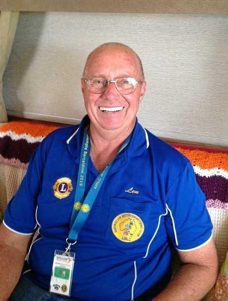 President and of The Australian Motorhoming Lions Club Len Waddington.