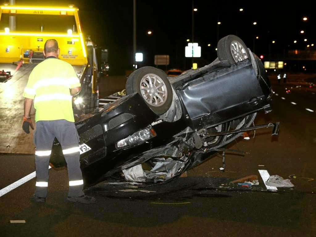 The driver is believed to have died in the crash on the Ipswich Motorway.