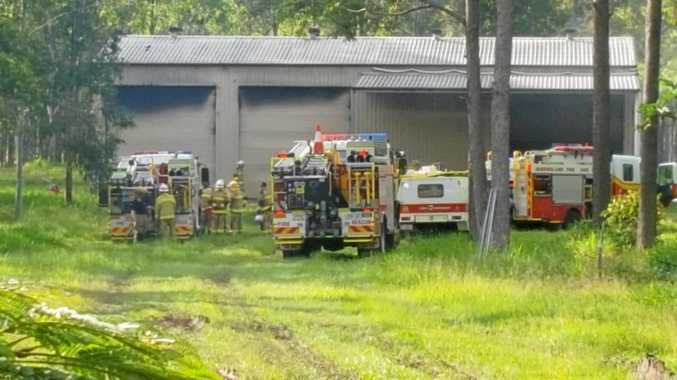 BREAKING: Tractor on fire at Gympie region property