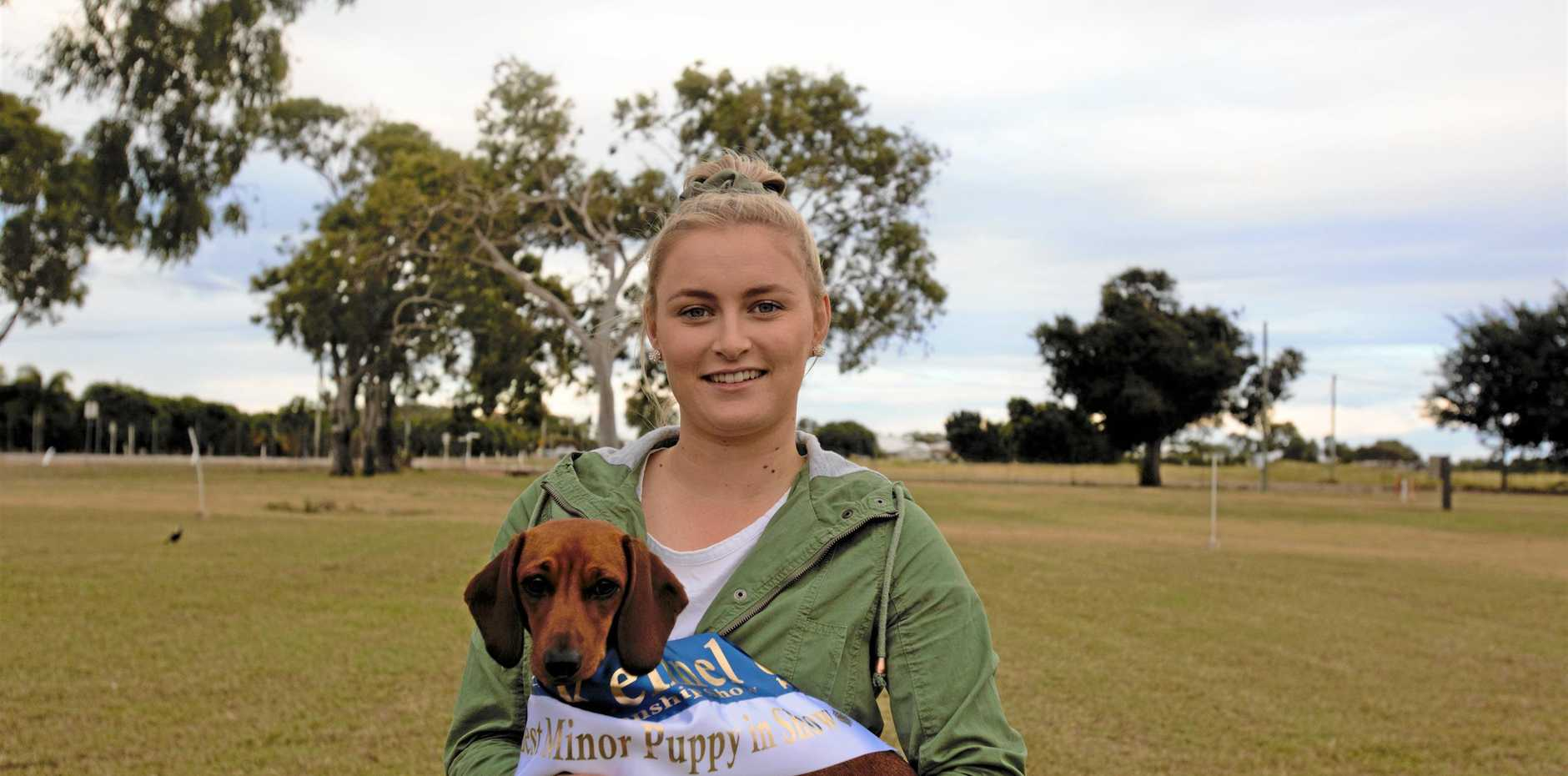 Shontelle Betzel and her Miniature Dachshund Daisy are ready for a dog filled weekend.