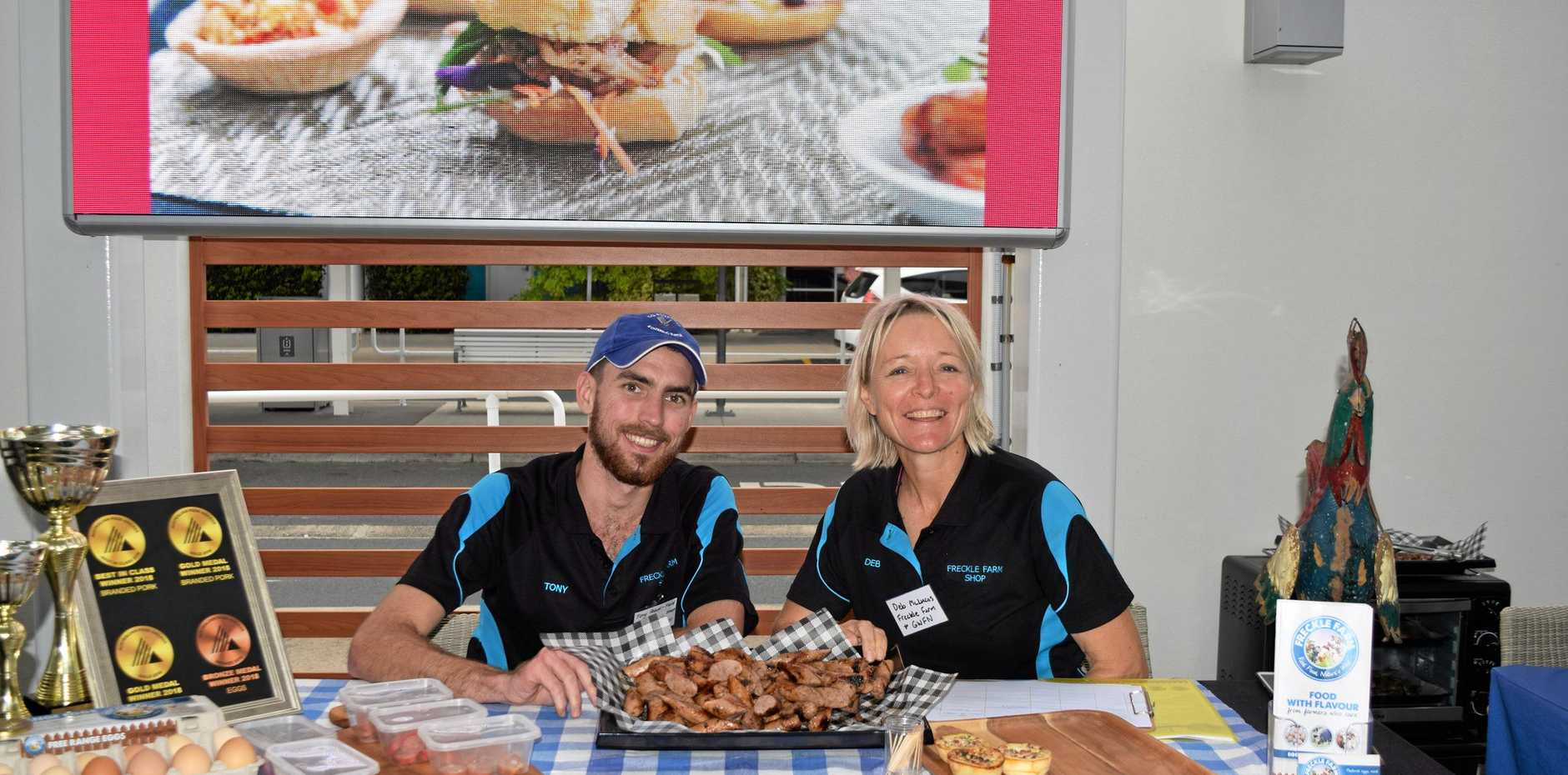 ON SHOW: Deb and Tony McLucas from Freckle Farm were excited to meet food sellers in the region.