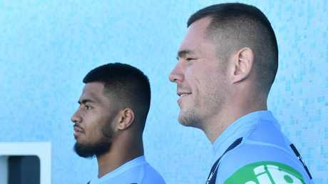 NSW Blues debutant Payne Haas and prop David Klemmer will room together