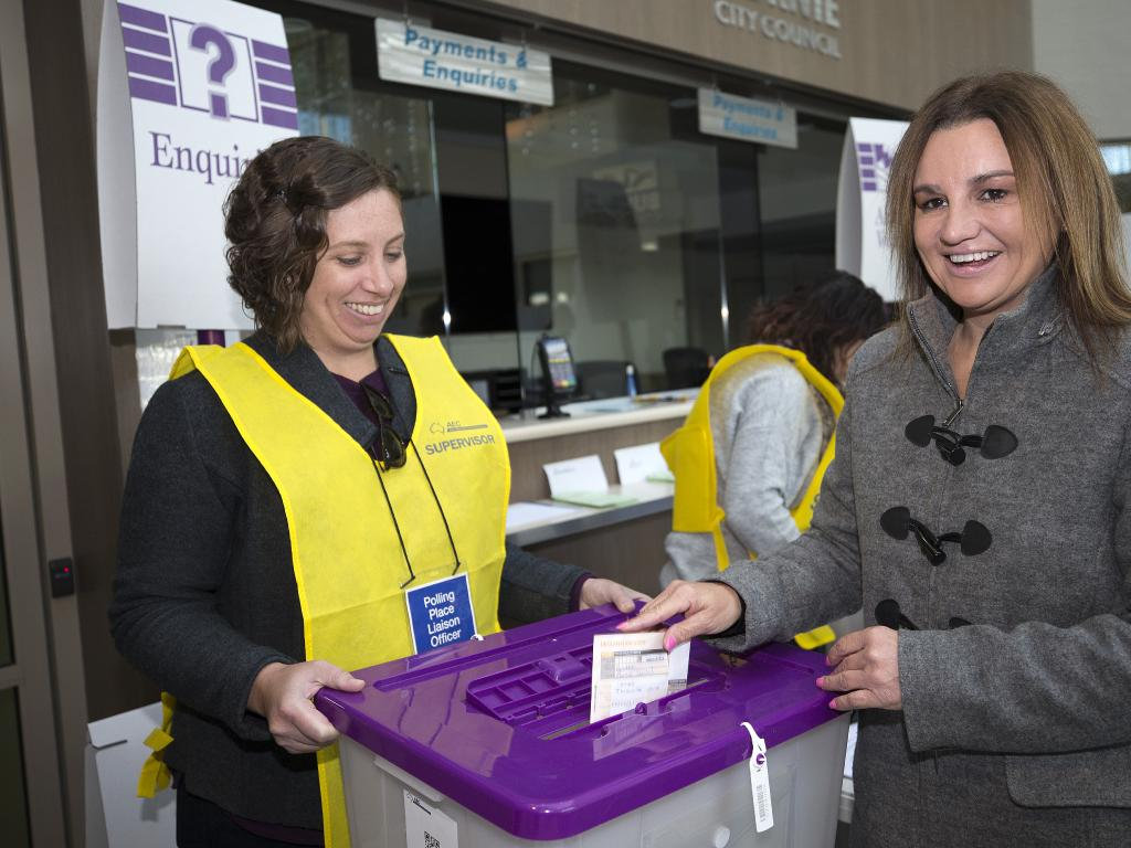 Jacqui Lambie has won enough votes to return to the Senate. Picture: Chris Kidd