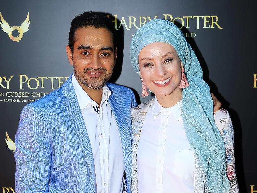 Waleed Aly and Susan Carland. Picture: Mark Stewart
