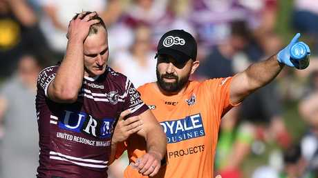 Daly Cherry-Evans was injured in Manly's Round 7 win over Canberra last month. Picture: AAP