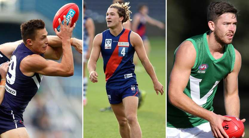 Josh Deluca, Sam Lowson and Kyle Dunkley loom as early picks in Monday's AFL mid-season draft.