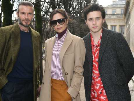 "Brooklyn Beckham's parents, Victoria and David, are reportedly ""concerned"" about their son's volatile relationship. Picture: Getty Images"