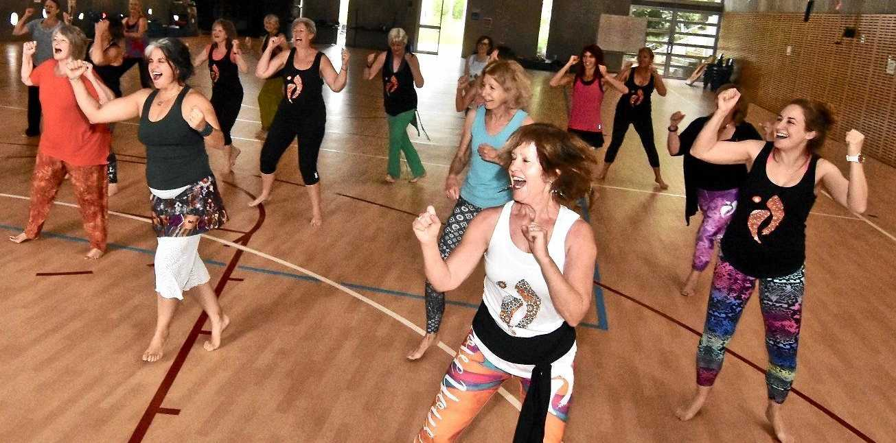 GET MOVING: Nia dance teacher Carol Greenwood wants to see everybody on the floor this weekend for a good cause.