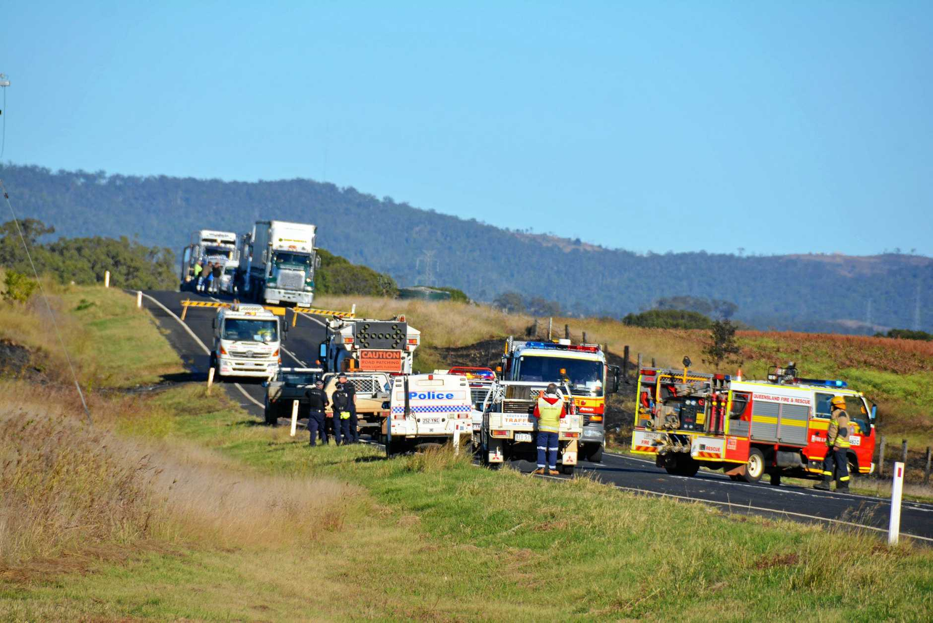 Fatal crash on the Bunya Highway.