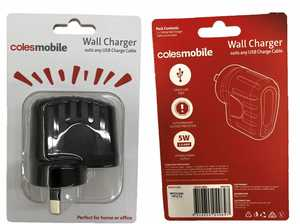 SHOCK: Coles USB wall charger recalled