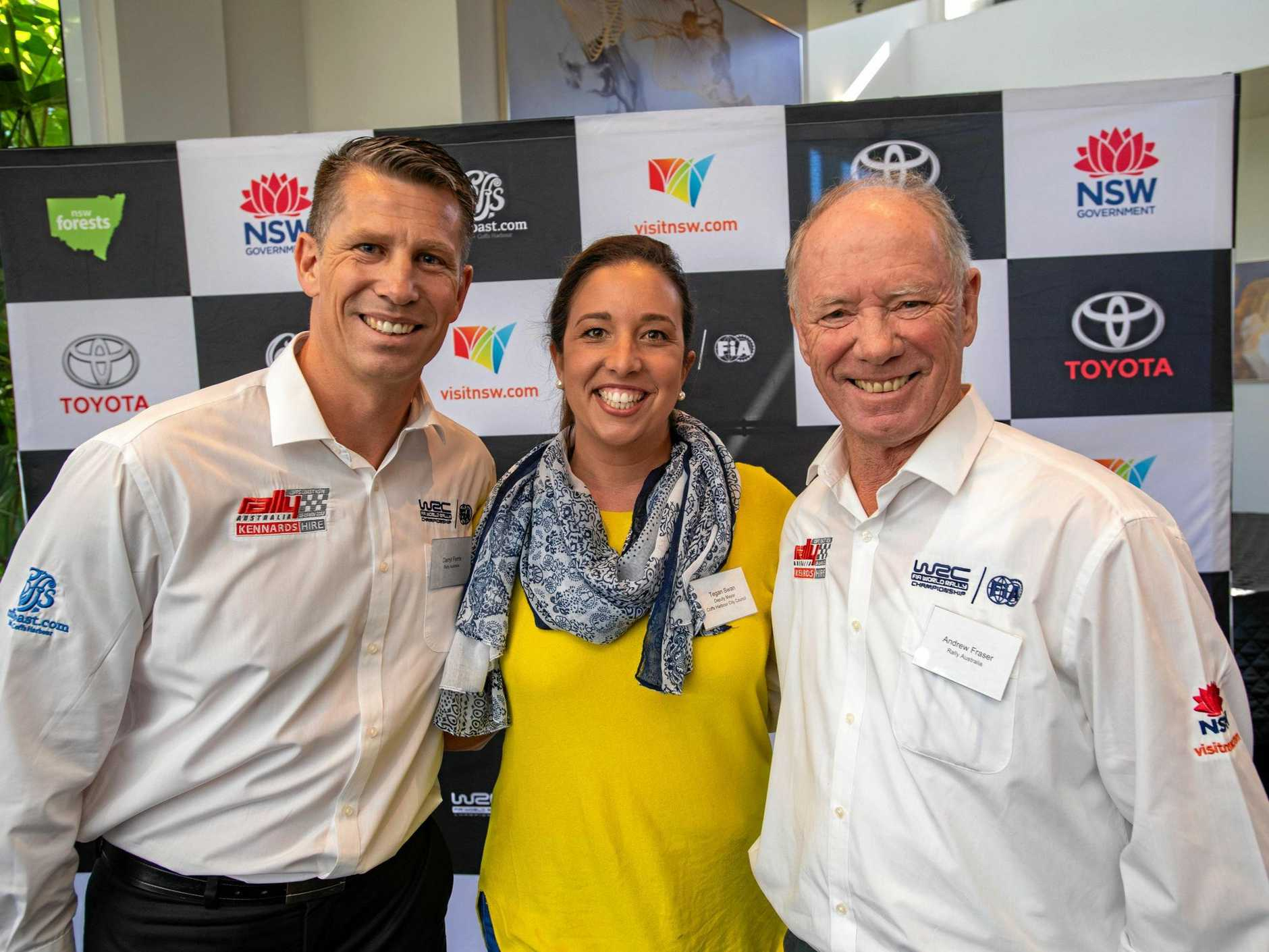 rally australia businesses breifing Darryl Ferris, Cr. Tegan Swan, Andrew Fraser.. 28 MAY 2019