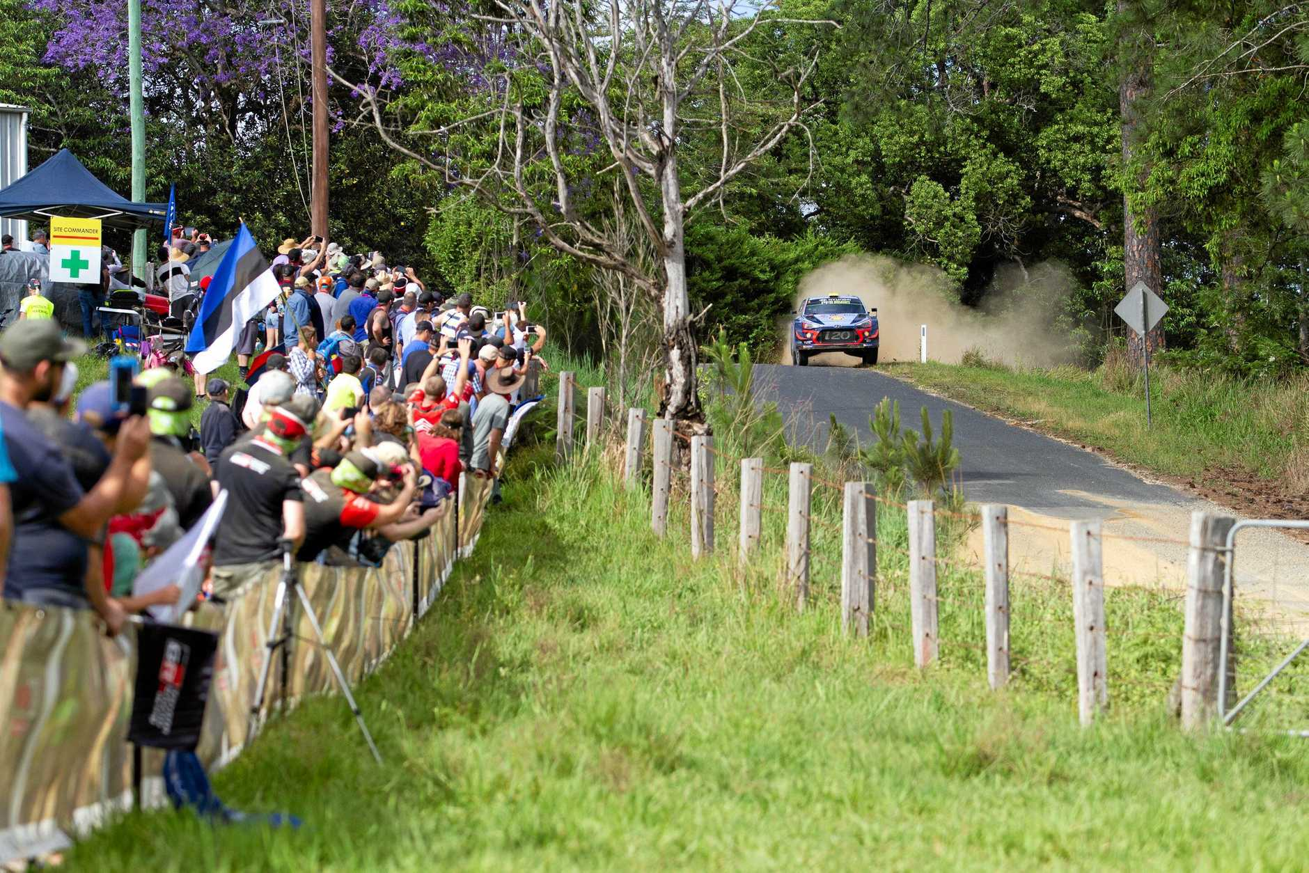 WRC 2018 Kennards Hire Rally Australia , Welshs Creek Stage at Nambucca, Crowds at the Talarm Hall Spectator point.. 17 NOV 2018