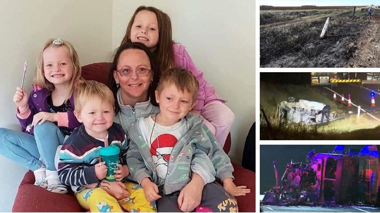 Charmaine McLeod and her four children were killed in a car crash near Kumbia on Monday evening. Picture: Facebook