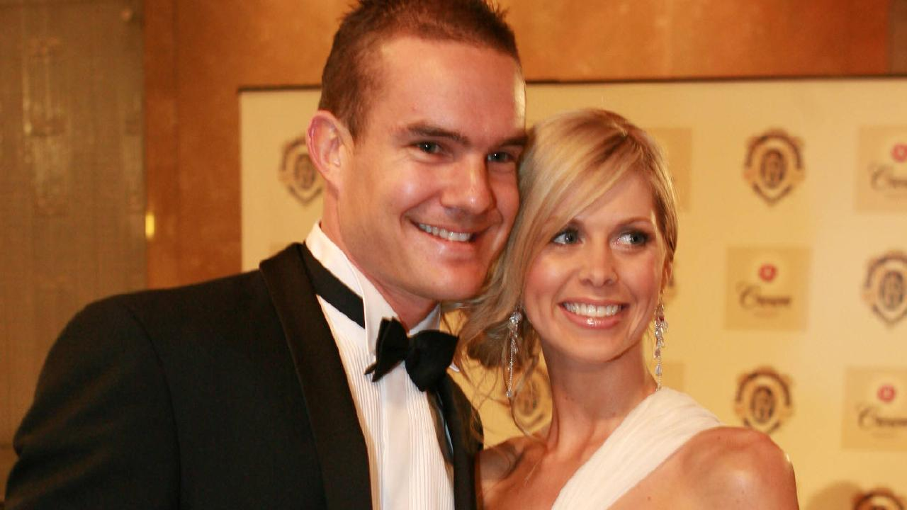 Brad Green and his future wife Anna at the 2004 Brownlow Medal.