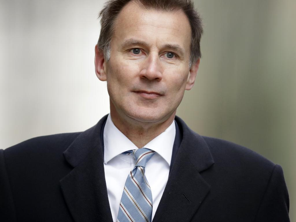 Britain's foreign secretary and leadership frontrunner Jeremy Hunt said the Conservative Party risked 'political suicide' by pushing for a no-deal Brexit. Picture: AP Photo/Matt Dunham, File