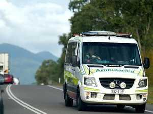 Elderly man injured after caravan collides with truck