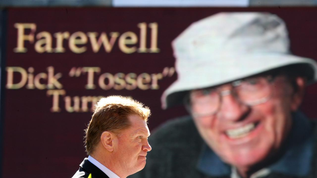 "Vautin at the memorial service for Dick ""Tosser"" Turner at Lang Park in 2008."