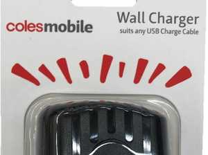 Coles recalls charger over safety fears