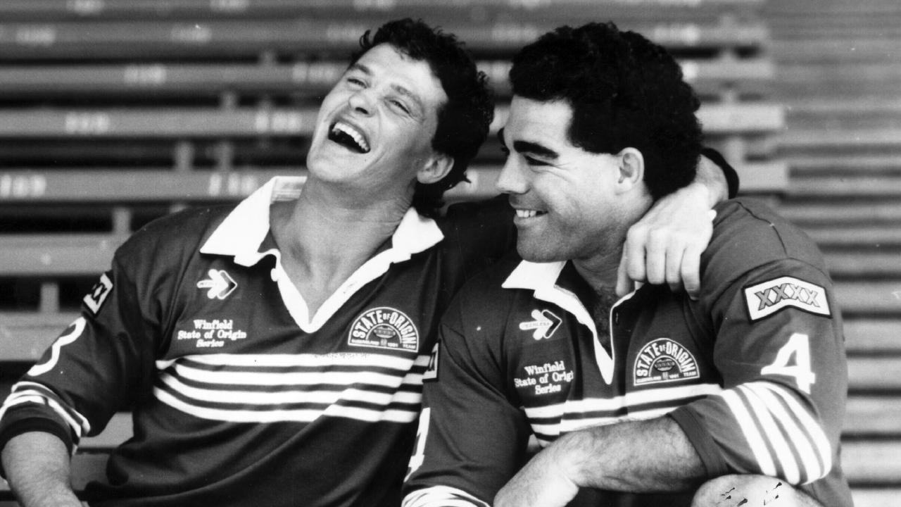 Peter Jackson and Mal Meninga together in 1991.