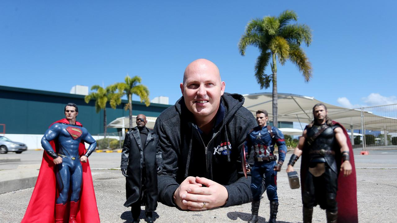 Curtis Pitt outside the old Bunnings Warehouse, which he reckons should be converted into a state-of-the-art sound stage for films. PICTURE: STEWART MCLEAN