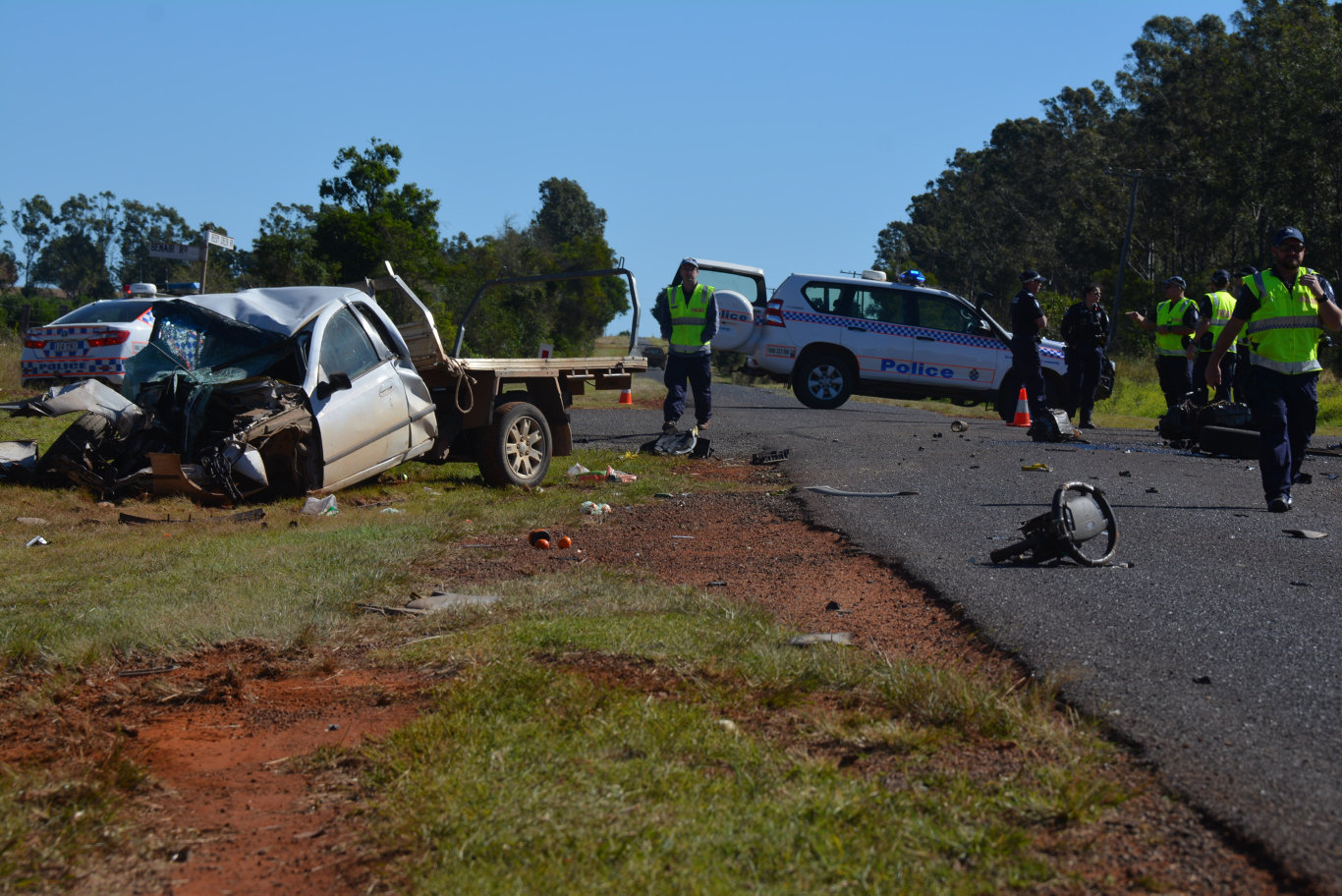 A man has died following a collision with a truck on the corner of Benair and Reedy Roads.
