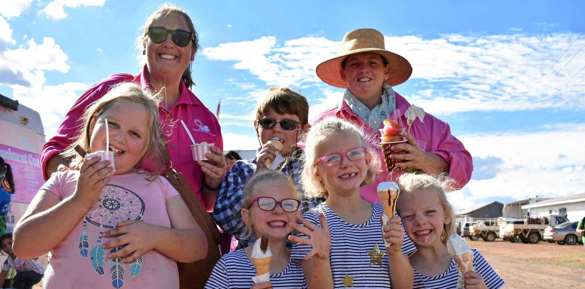 FAMILY DAY: Mary-Clare Duff, Rohan Koop, Marg Koop, Bella Woods, Sydney Koop, Haydee Koop and Lyndsay Koop.