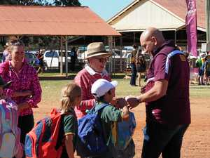 Origin team paints the west maroon at Charleville fan day