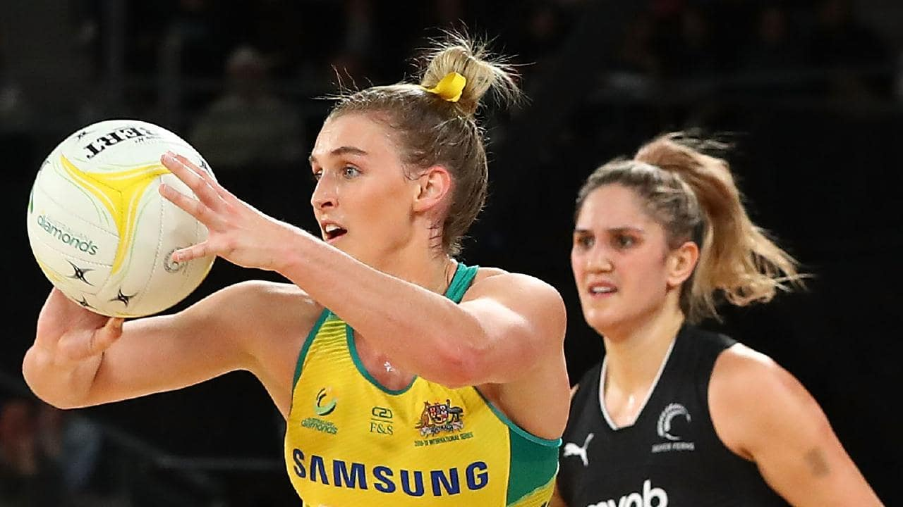 Diamonds vice-captain Gabi Simpson is understood to have been left out of the World Cup squad. Picture: Getty Images