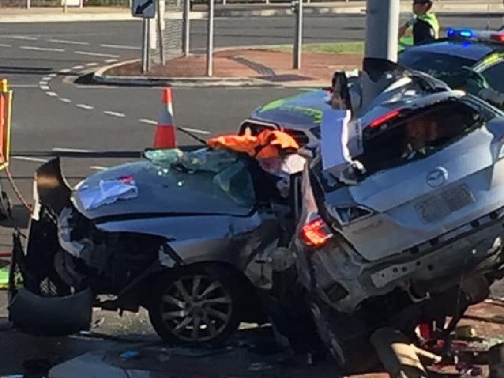 The car had been seen earlier in the day and ran a red light before the crash. Picture: Moreton Alert