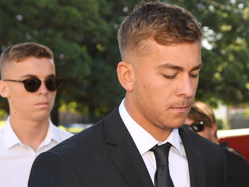 Callan Sinclair arrives at Wollongong Local Court in February. Picture: Dean Lewins/AAP
