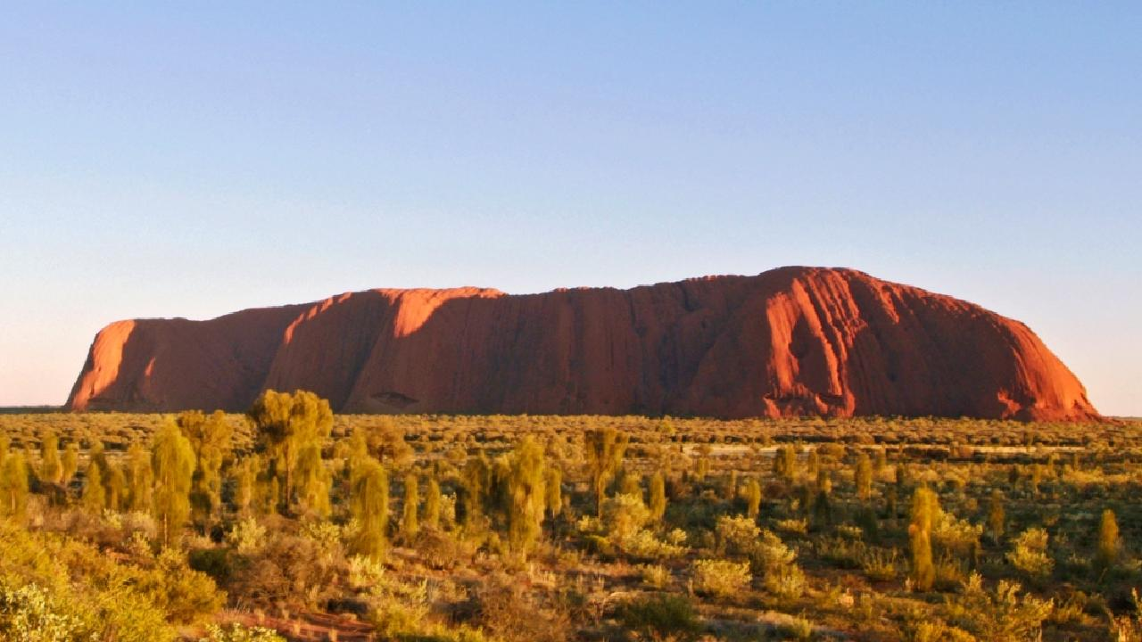 A man had to be rescued after having a heart attack on Uluru. Picture: Steve Strikes/Parks Australia.