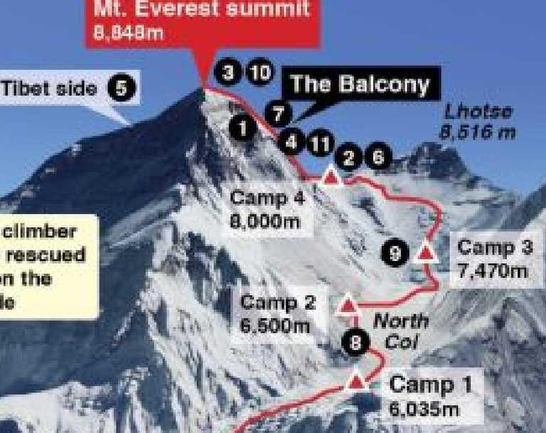 Mt Everest: Map reveals tragic death toll of world\'s largest ...