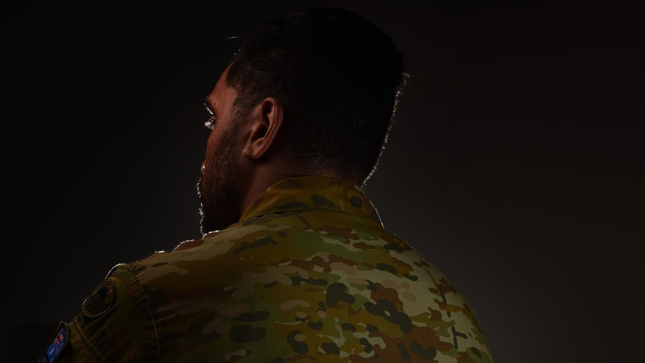 Australian Army soldier is facing discharge from a result of not being clean shaving. Picture: Zak Simmonds