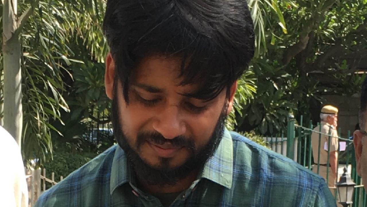 Puneet outside court in Delhi in May.
