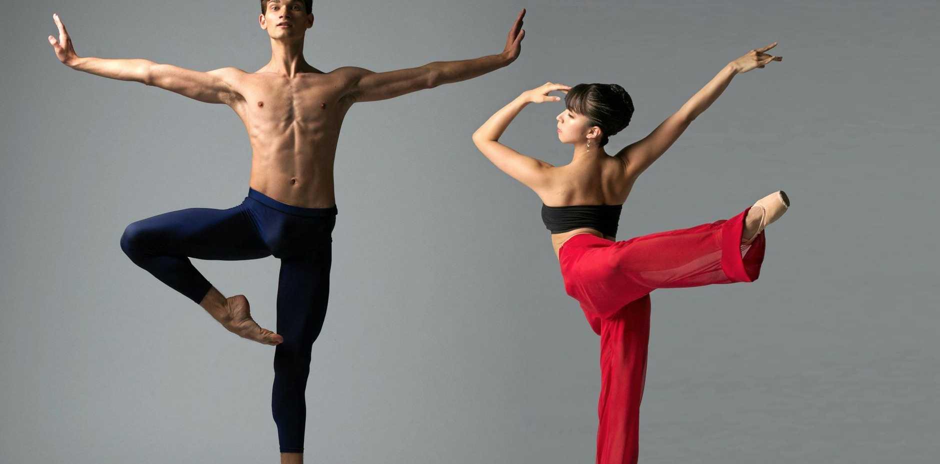 ELEGANCE: Queensland Ballet artist Liam Geck and soloist Neneka Yoshida.