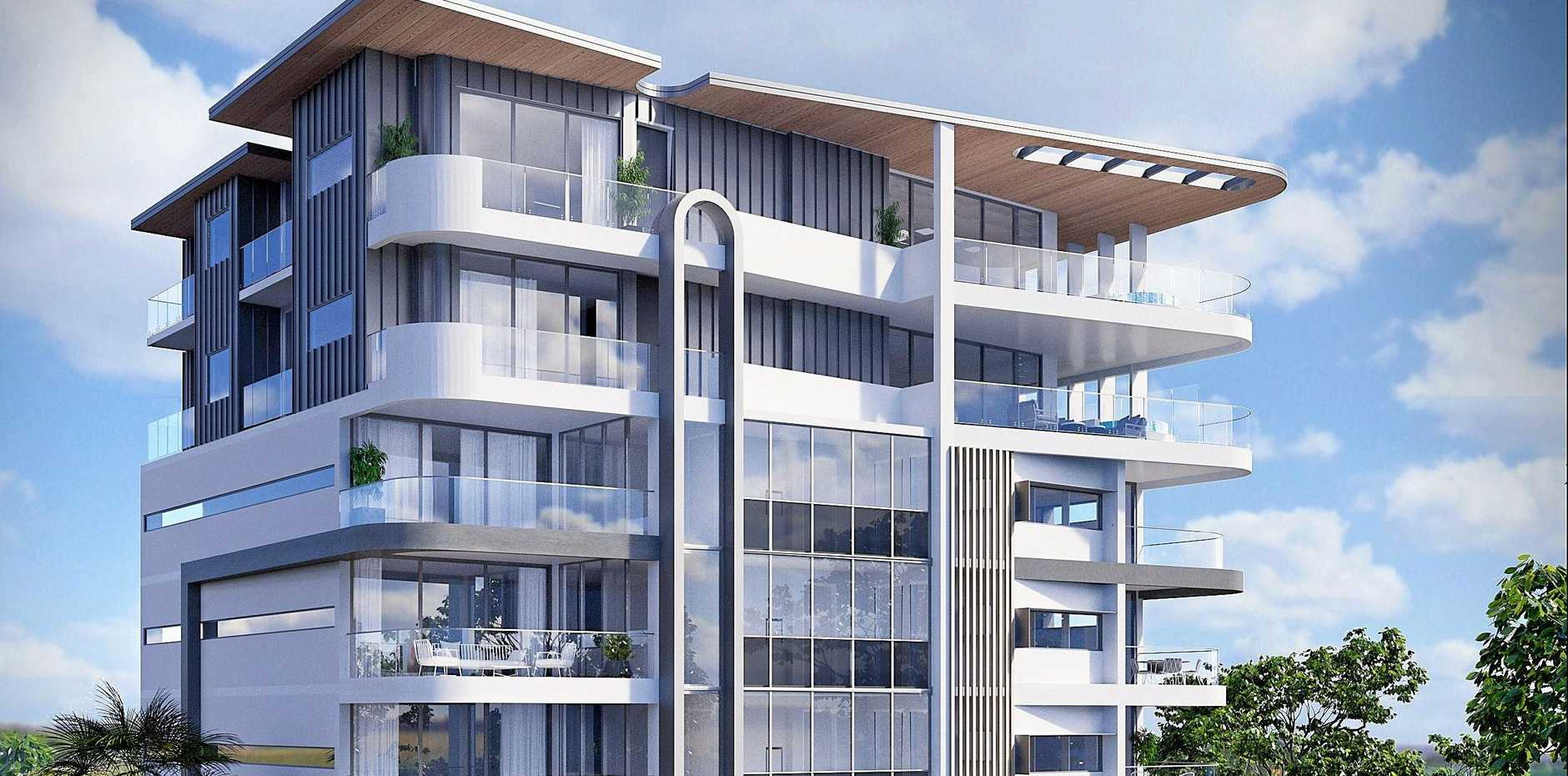 UPDATE: A revised render of the Picasso development proposed in Naroo Ct, Mooloolaba, was submitted in March.