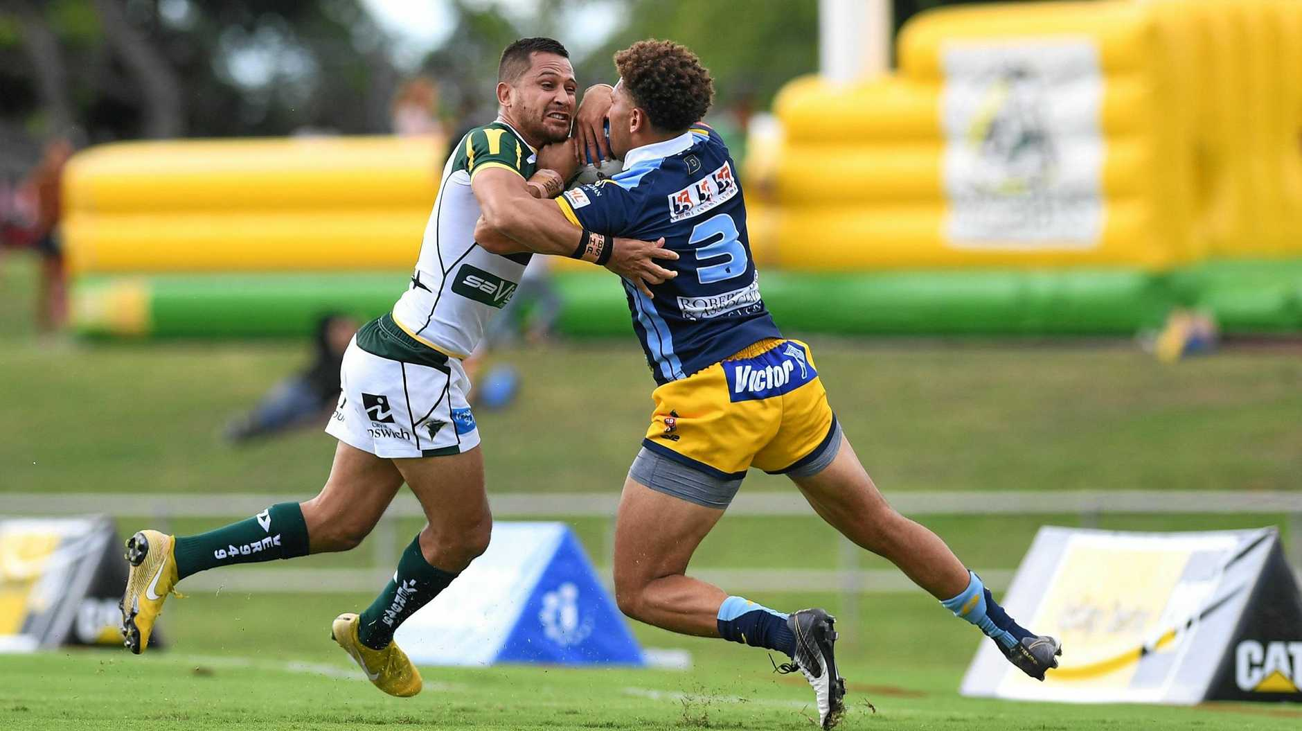 Ipswich Jets try-scoring machine Marmin Barba.
