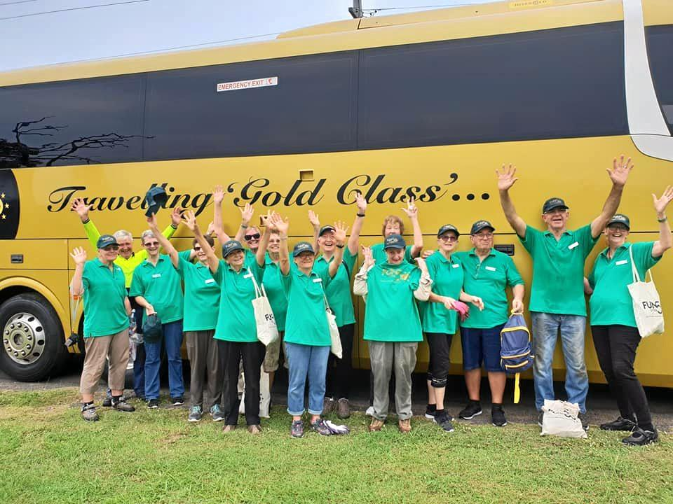 GREEN AND GOLD: The Fun over Fifties group is headed to Gladstone as part of its Green Getaway Tour, which aims to give back to the environment.