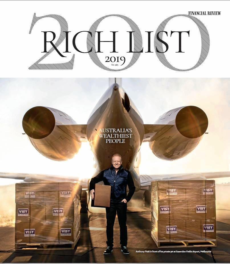 Cover of the Financial Review Rich List cover.