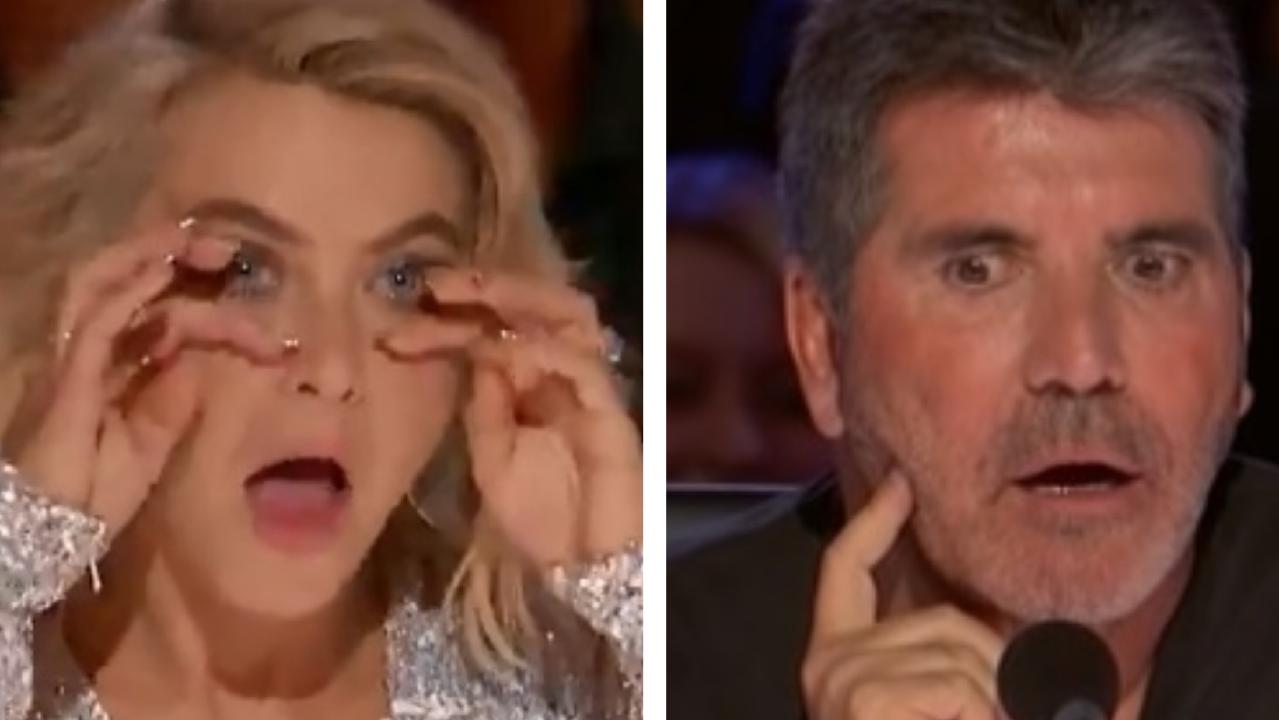 America's Got Talent judges Julianne Hough and Simon Cowell were brought to tears by a performance by a young man.