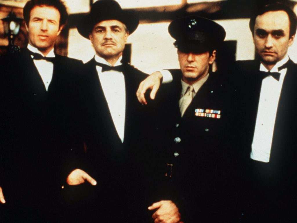 Al Pacino, Marlon Brando, James Caan and John Cazale in the Godfather. Picture: Supplied