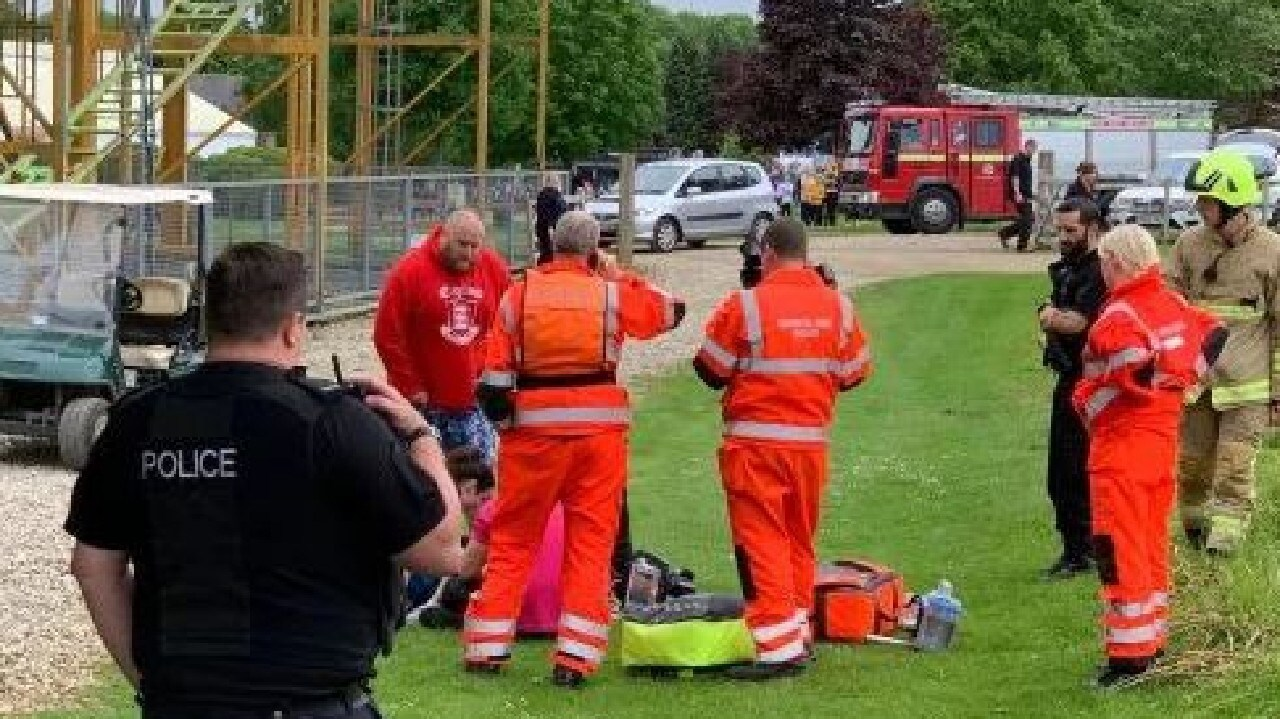 A boy, six, has fallen off the Twister rollercoaster at Lightwater Valley theme park. Picture: Supplied
