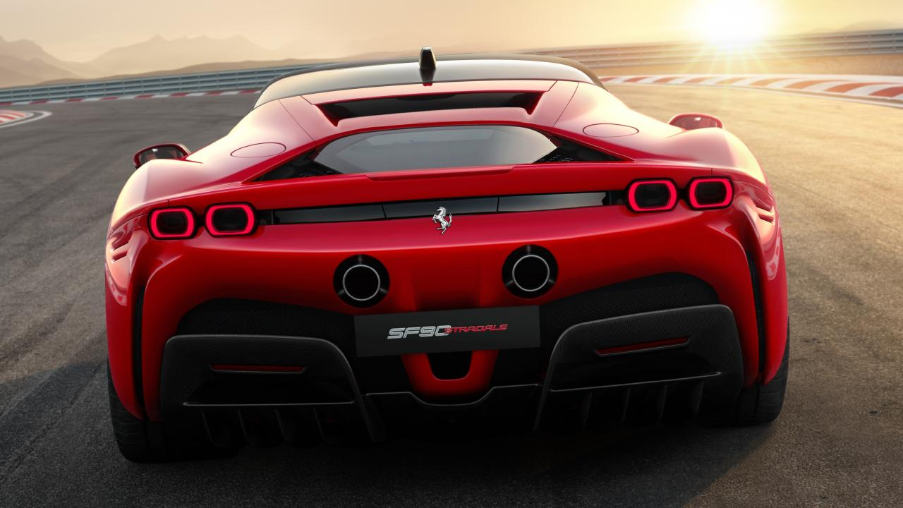 The SF90 Stradale is still powered by a big V8 engine as well as the electric motor.