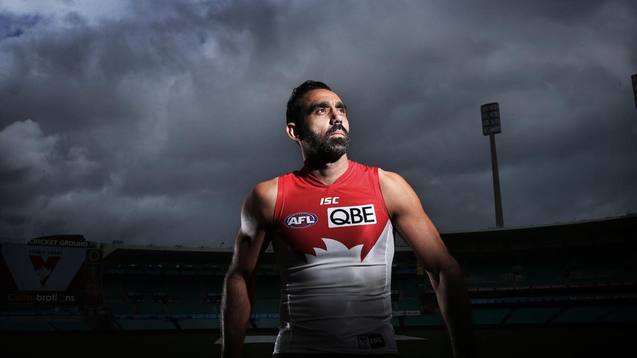 Former Swans footballer Adam Goodes at the SCG.