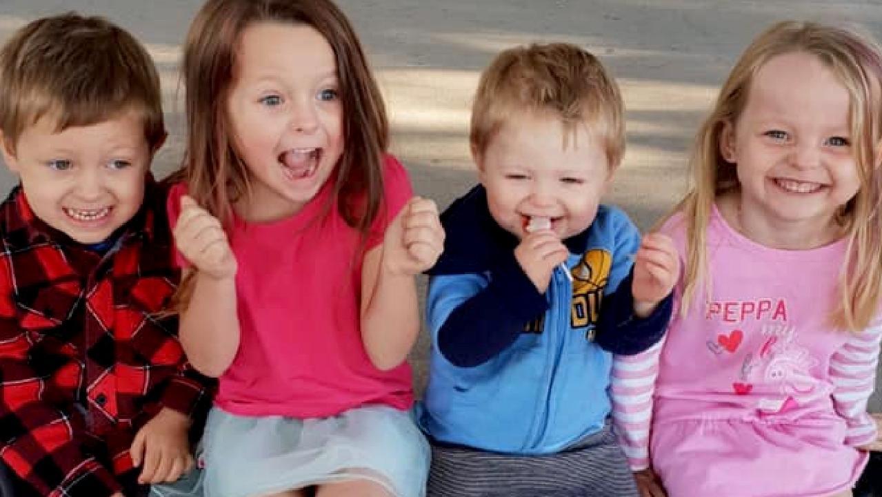 Wyatt, Ally, Zaidok and Matilda were killed alongside their mother Charmaine McLeod in a horror smash near Kingaroy. Picture: Supplied