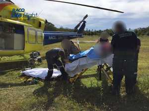 Woman airlifted after being thrown from rearing horse