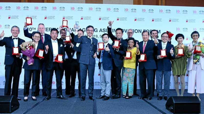Category winners and finalists at the 7th Asia Pacific Eldercare Innovation Awards in Singapore.