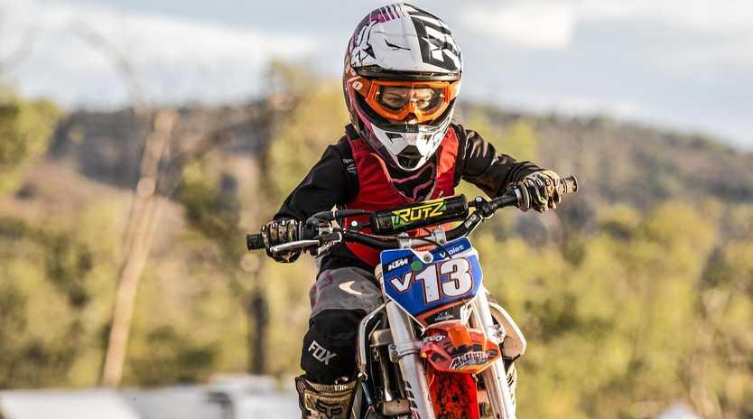 WHEELING IN: Local rising motorbike star Violet McLintock.