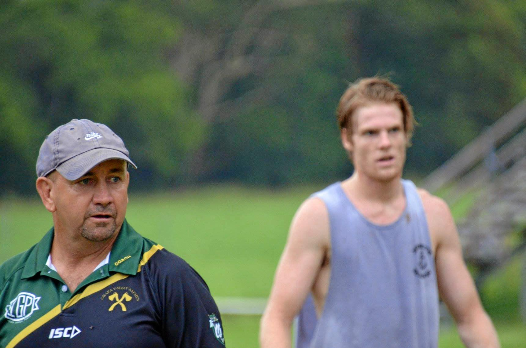 LOCKED IN: Col Speed in full focus mode at Orara Valley Axemen training earlier this year.